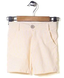 Bee Bee Striped Shorts - Yellow