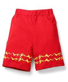 Babyhug Pokemon Toddler Shorts - Red