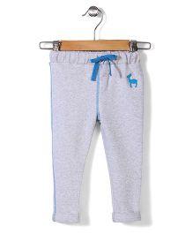 Hallo Heidi Solid Color Track Pant - Light Grey