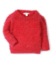 Pumpkin Patch Full Sleeves Sweater - Red