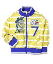 Noddy Original Clothing Stripe Jacket Numeric 7 Embroidery - Yellow