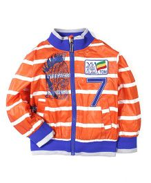 Noddy Original Clothing Stripe Jacket Numeric 7 Embroidery - Orange