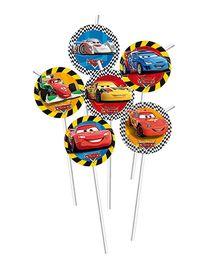 Disney Pixar Cars Flexi Drinking Straws - 6 Pieces