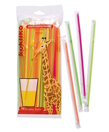 Disney Drinking Straws Fluorescent Pack Of 100