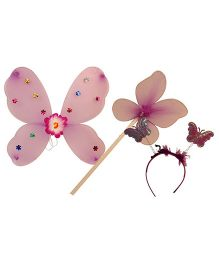 Partymanao Plastic Wingset Single Layer - Purple