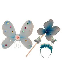 Partymanao Plastic Wingset Single Layer - Blue