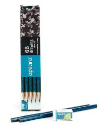 Apsara 6B Grade Graphite Pencils - Pack of 10