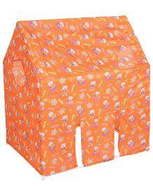 Lovely Play Tent House Multi Print - Orange