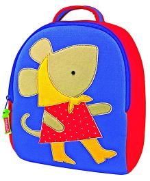 Elefantastik Mouse Patch Backpack - Blue And Red