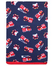 Kadambaby Nee Naw Fleece Blanket Vehicle Print  - Blue