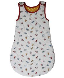 Kadambaby Quilted Sleeping Bag Li'l Sailor Print - White