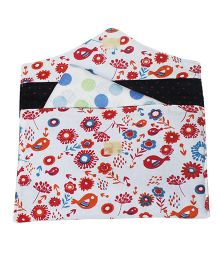 Kadam Baby Flowers & Birds Diaper & Wipe Pouch - Red