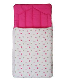 Pink Polka Dots Print Carry Nest Baby Wrapper Baby Carrier By Kadambaby