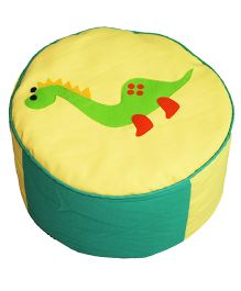 Yellow And Green Dinosaur Applique Pouffe Cover Pouffe Stool Cover By Kadambaby