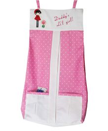 Multipurpose Friends Forever Diaper Stacker Daddy's Little Girl Applique By Kadambaby