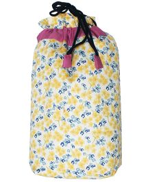 Little Flowers Anytime Nap Bag Travel Bedding Set From Kadambaby