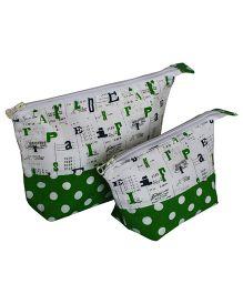 Multipurpose Alphabet Print Pencil Pouch Art Pouch Set Of 2 Bags By Kadambaby