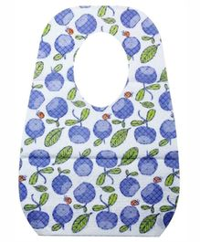 Libero Baby Disposable Bibs Fruit Print Pack Of 10 - Blue And White