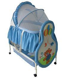 Polly's Pet Baby Bassinet Teddy Design Sky Blue - 296