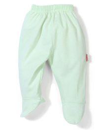 Child World Plain Bootie Leggings - Sea Green