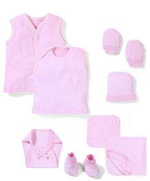 Babyhug Clothing Gift Set Pack Of 10 - Pink