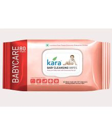 Kara Baby Cleansing Wipes - 80 Pieces