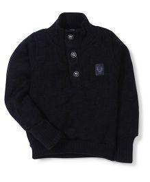 Little Kangaroos Full Sleeves High Neck Sweater - Black