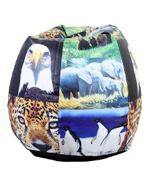 Orka Bean Filled Bag Animal Printed Multi Color - XL