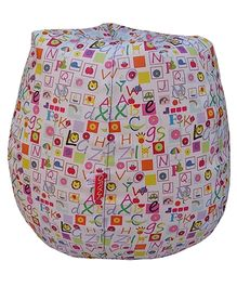 Orka Bean Filled Bag Alphabet Print Multi Color - XL