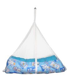 Luk Luck Port Baby Jil Cradle With Sleeping Mosquito Nest - Blue