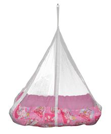 Luk Luck Port Baby Jil Cradle With Sleeping Mosquito Nest - Pink