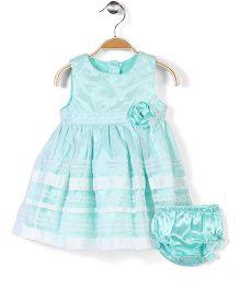 Nannette Chic Dress - Aqua Blue