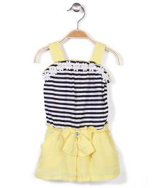 Nannette Beautiful Dress - Yellow & Black