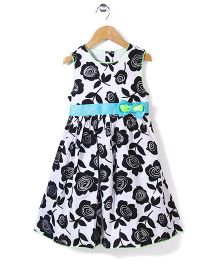 Nannette Rose Printed Dress - Black & White
