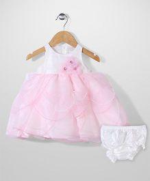 Nannette Elegant Dress - Pink & White