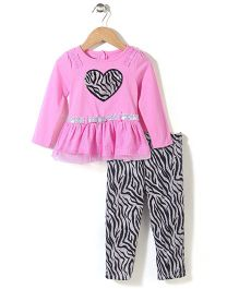 Young Hearts Love Print Set - Pink