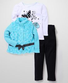 Young Hearts Top Jacket & Leggings Set - Multicolor