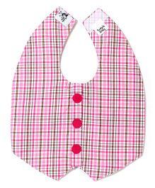 Funkie Baby Reversible Vest Bib - Pink