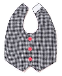 Funkie Baby Hound Reversible Vest Bib - Dark Pink And Grey