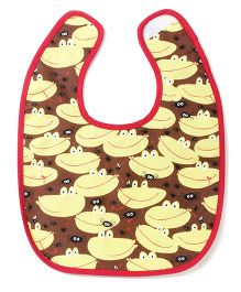 Funkie Baby Reversible Bib - Brown & Yellow