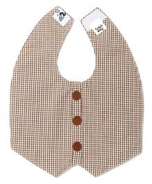 Funkie Baby Reversible Vest Bib - Light Brown