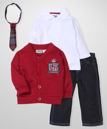 Little Rebels Smart T-shirt & Jacket Set - Multicolor