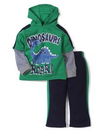 Little Rebels Dinoser Print Set - Green