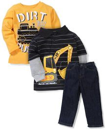 Little Rebels Dirt Pusher Print Set - Yellow & Black