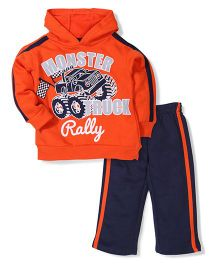 Little Rebels Truck Print Set - Orange & Navy