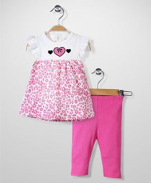 Bon Bebe Top & Leggings Set - Pink