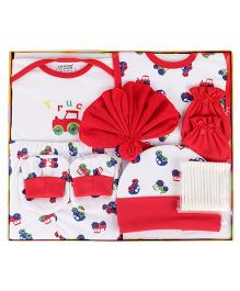 Mee Mee Gift Set Red - Pack of 9 (Design May Vary)