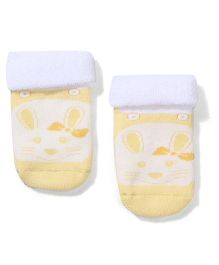 Mustang Socks Kitty Design - Yellow