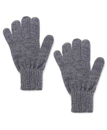 Babyhug Solid Color Gloves - Grey