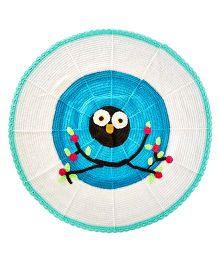 MayRa Knits Owl Blanket - Blue